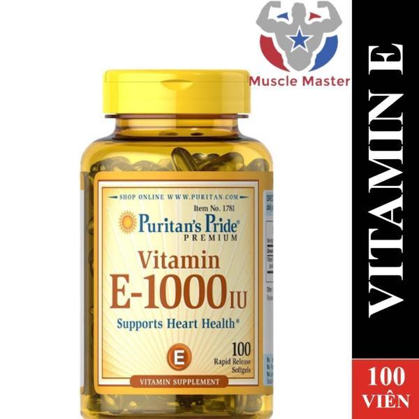 Viên Bổ Sung Puritans Pride Vitamin E 1000IU 100 Viên giá rẻ