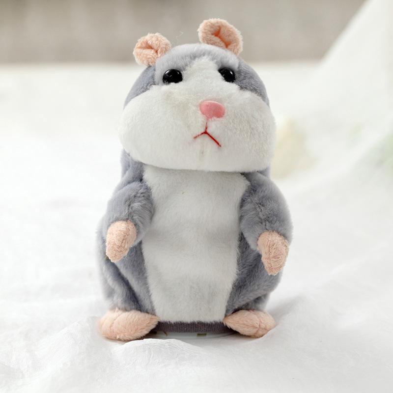 Chuột HAMSTER biết nhại giọng và gật đầu cho bé Talking Hamster 16 CM (NÂU SẪM) Nhật Bản