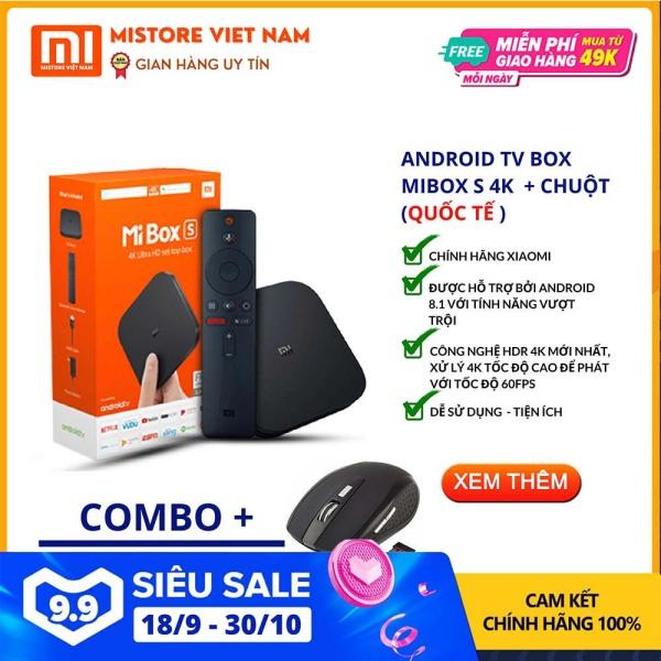 Bảng giá 【FREESHIP XTRA】[TẶNG 01 BỘ CHUỘT KHÔNG DÂY 129K] Android Tivi Box Xiaomi Mibox S 4K bản Quốc Tế (Android 9.0) CHÍNH HÃNG XIAOMI - Mistore Việt Nam