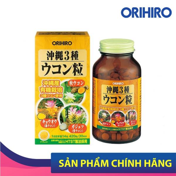 Viên Uống Nghệ 3 Mùa Okinawa Orihiro 420 Viên Giúp Thanh Lọc, Thải Độ Gan, Giảm Nám, Tàn Nhang Của Phụ Nữ Sau Sinh cao cấp
