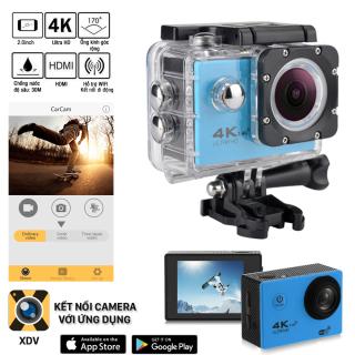 Camera hành trình Sport 4K UltraHD - Màn hình LCD, quay video sắc nét với độ phân giải 4K, hỗ trợ chống nước, chống rung giúp bạn ghi lại được những hình ảnh và video sống động, chân thực - Camera hành trình ô tô, xe máy thumbnail