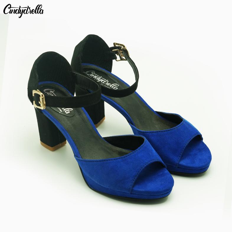 Giày sandal cao gót công sở cindydrella F54 nhiều màu giá rẻ