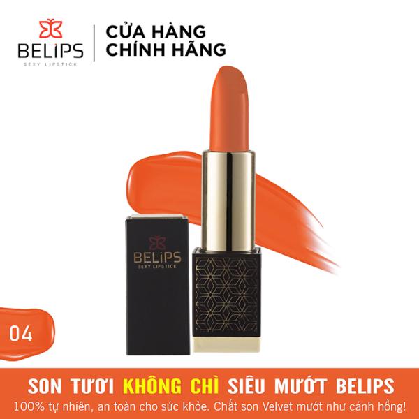 Son môi Belips son tươi mỏng nhẹ mềm môi 100% thiên nhiên không chì an toàn cho bà bầu Belips Sexy Lipstick chính hãng có 5 màu son thỏi 3,7g