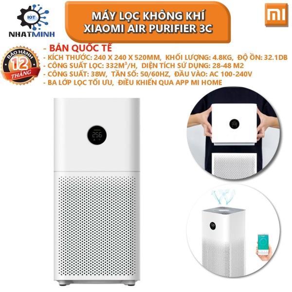 [bh 12 tháng]Máy Lọc Không Khí Xiaomi Air Purifier 3C Bản Quốc Tế Mới 2021 - Hàng Chính Hãng
