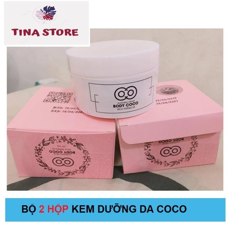 Bộ 2 Hộp Kem Coco Dưỡng Cho Body - Mẫu mới