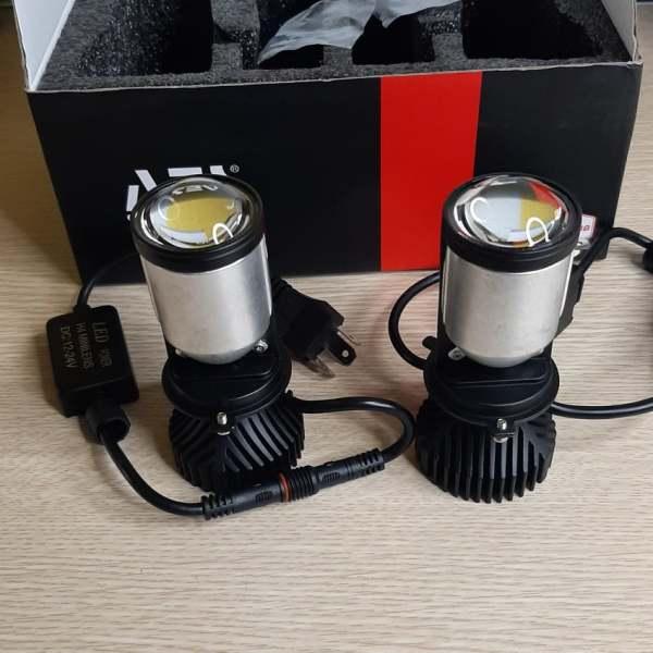 Đèn Pha Bi Led Mini H4 AES Chính Hãng Bản 2021, Dùng Cho Xe Máy, Ô Tô. Không Phải Độ Chế Hay Cắt Dỡ
