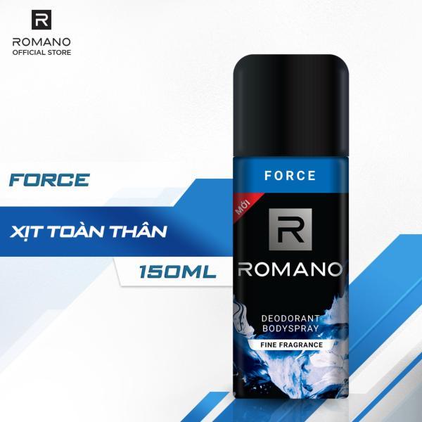 Xịt khử mùi toàn thân Romano Force 150ml cao cấp