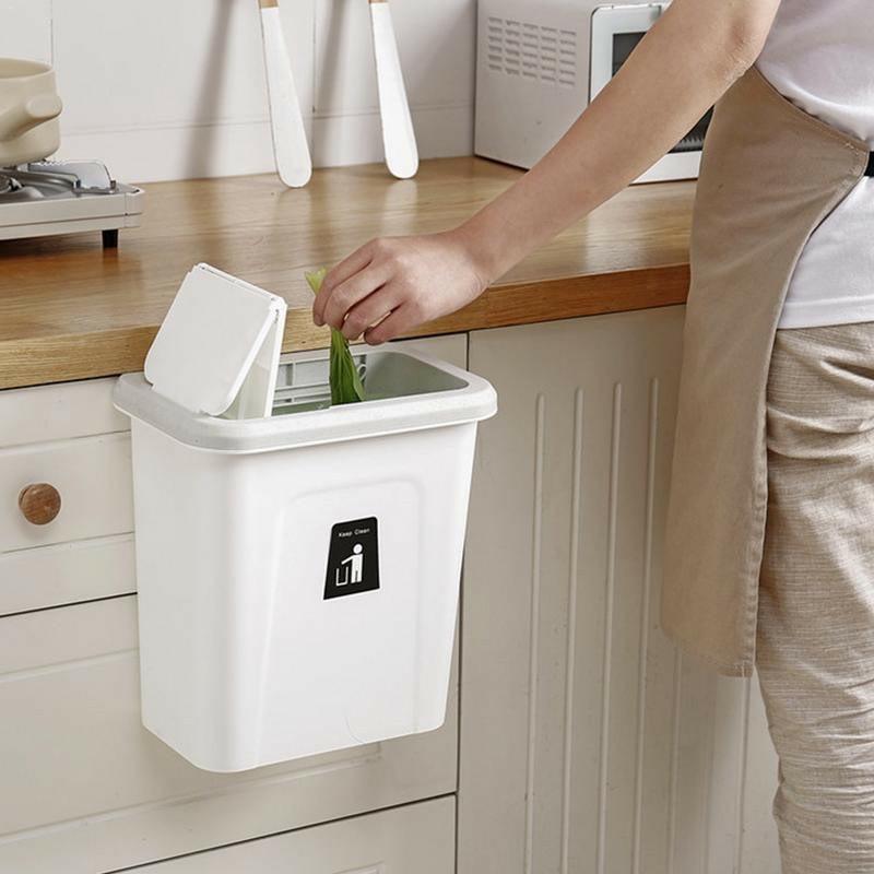 Thùng rác thông minh treo cánh tủ có lắp đậy sạch sẽ dung tích 7 lít - sản xuất Việt Nam