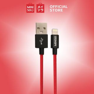 Cáp sạc nhanh Miniso Lightning 1m 2.4A - Hàng chính hãng thumbnail