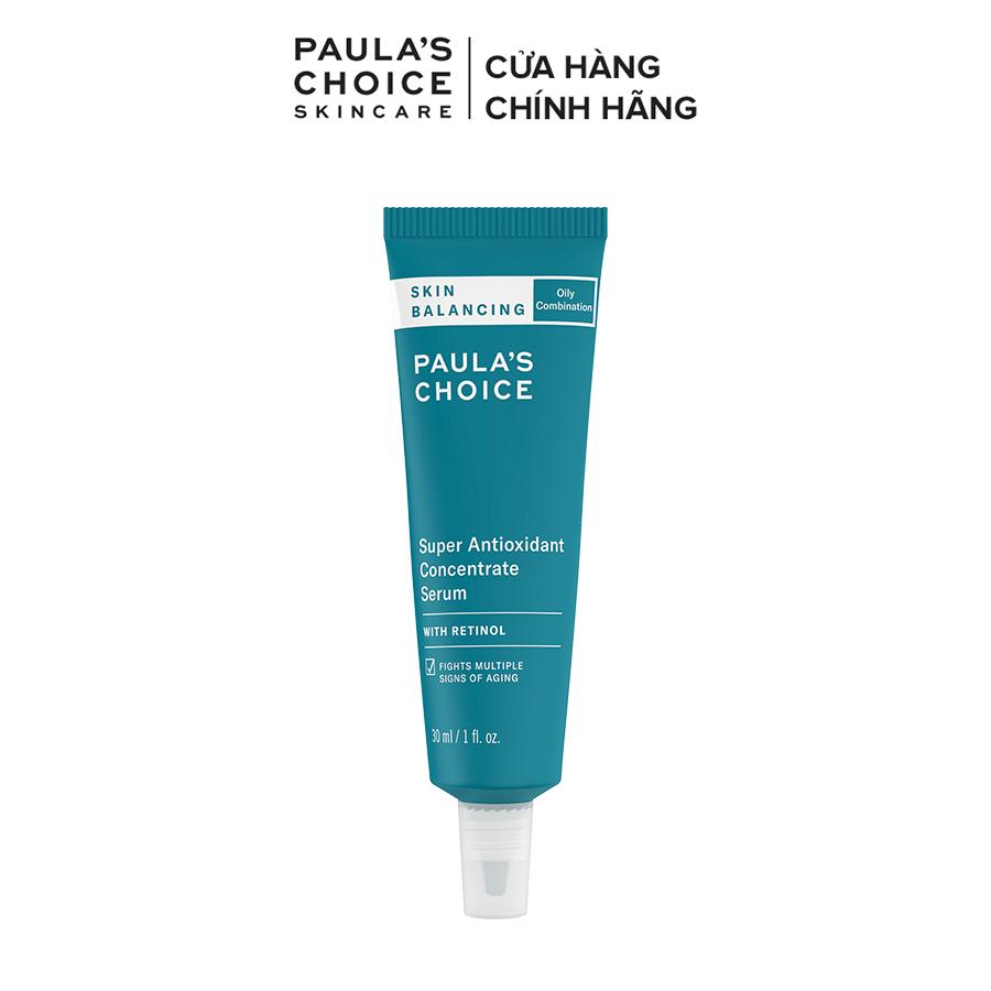Tinh chất chống lão hóa kiểm soát độ ẩm dưới da Paula's Choice Skin Balancing Super Antioxidant Concentrate Serum 30ml