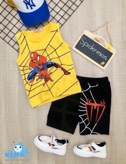 (GIÁ TẬN XƯỞNG) Bộ đồ quần áo cho trẻ em in hình spider-Man người nhện siêu ngầu cho bé trai từ 8kg đến 26kg thumbnail