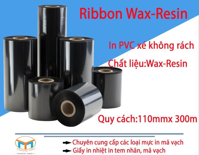 Ribbon Wax-Resin in mã vạch 110mmx300m