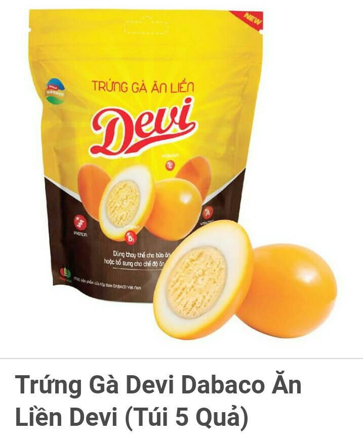 [flashsale]Trứng Gà Ăn Liền Devi Dabaco Túi 5 Quả