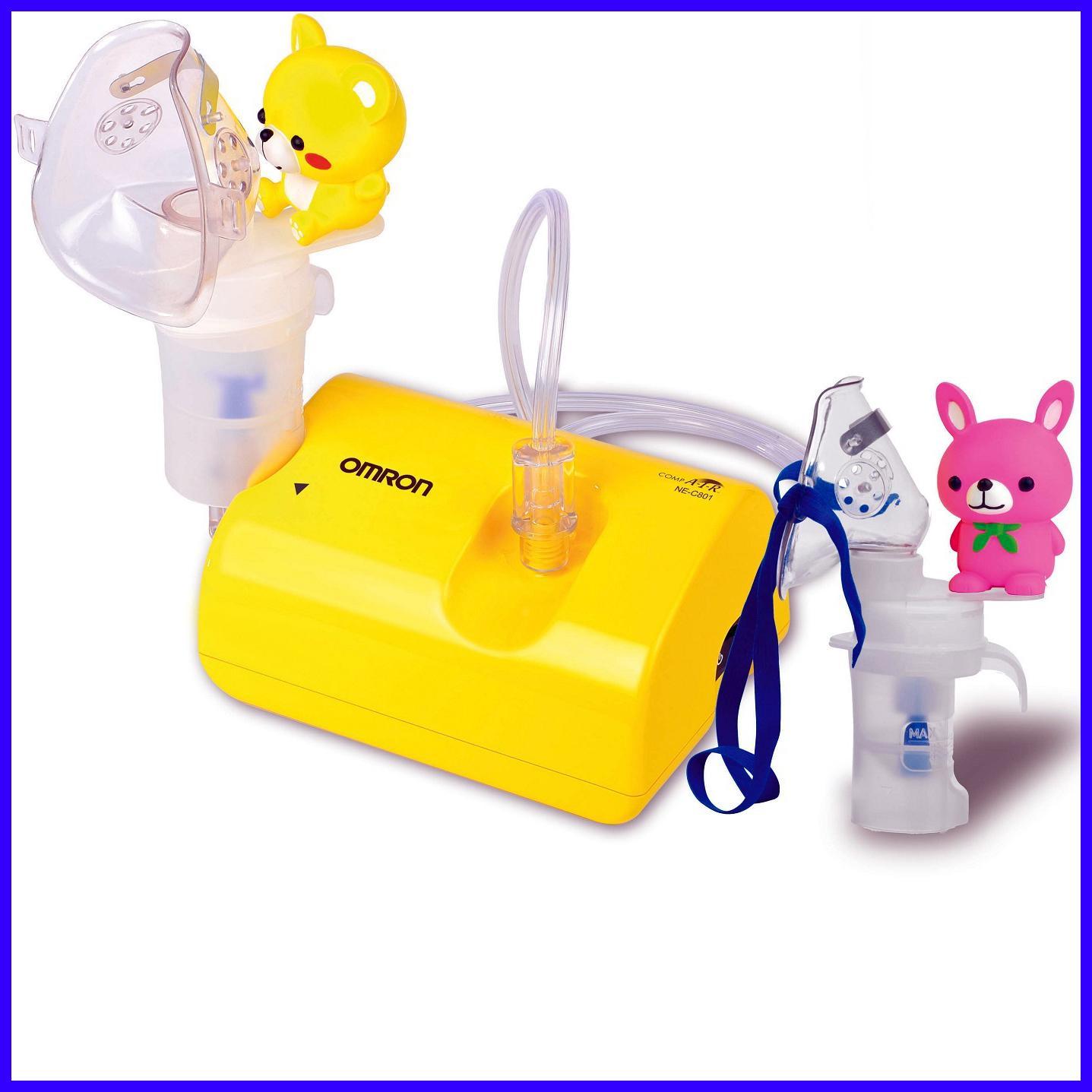 Máy xông mũi họng nén khí OMRON dành cho trẻ em NE-C801KD (NHẬT BẢN) BẢO HÀNH 2 NĂM