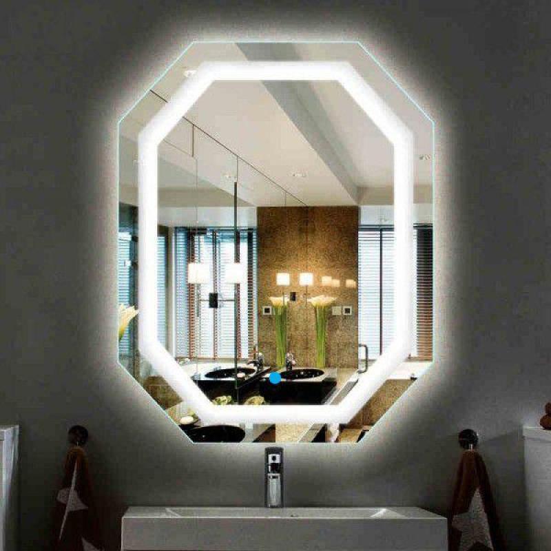 Gương đèn led - Tích hợp đèn led và công tắc cảm ứng trên gương