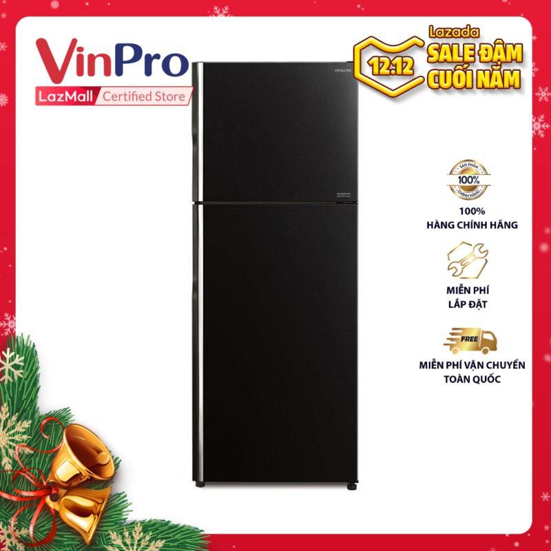 Tủ lạnh Hitachi Inverter R-FG510PGV8(GBK) 406L (Màu đen) - Hàng phân phối chính hãng, tiết kiệm điện - Hàng chính hãng