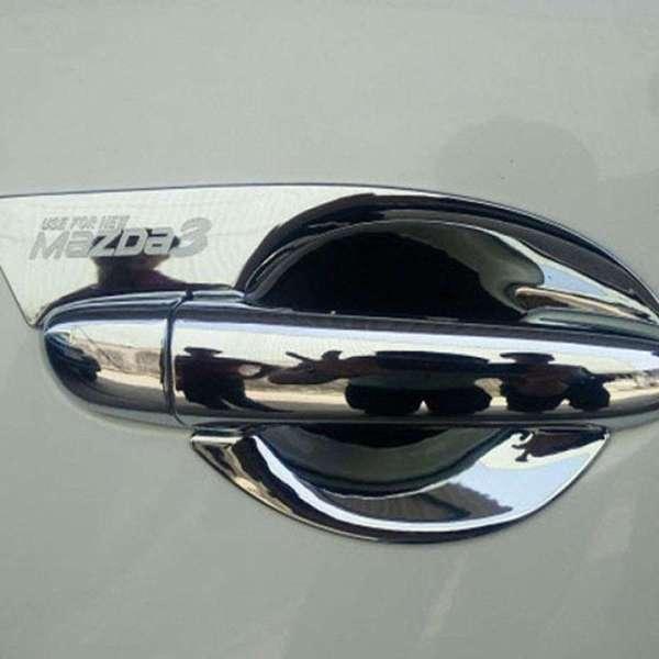Bộ ốp tay nắm và hõm cửa mạ crom xe Mazda 3