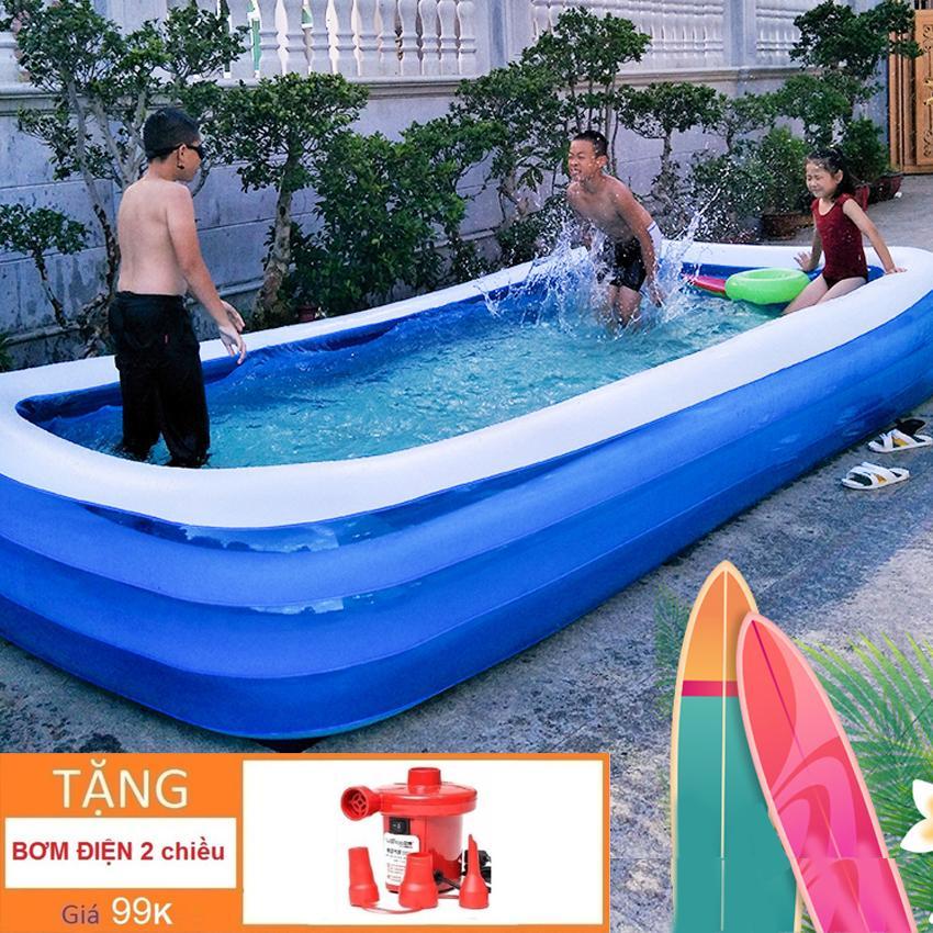 Bể Bơi Người Lớn - Khám phá ngay Bể bơi phao 3 tầng Khổ lớn 250 X 150 X 56cm cho bé yêu - Ngộ nghĩnh đáng yêu, An toàn với trẻ nhỏ + Tặng ngay 1 Bơm bể bơi cao cấp Giảm ngay 50% chỉ trong hôm nay Nhật Bản