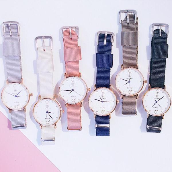 Đồng hồ thời trang nữ Fashion Watch dây dù K3433