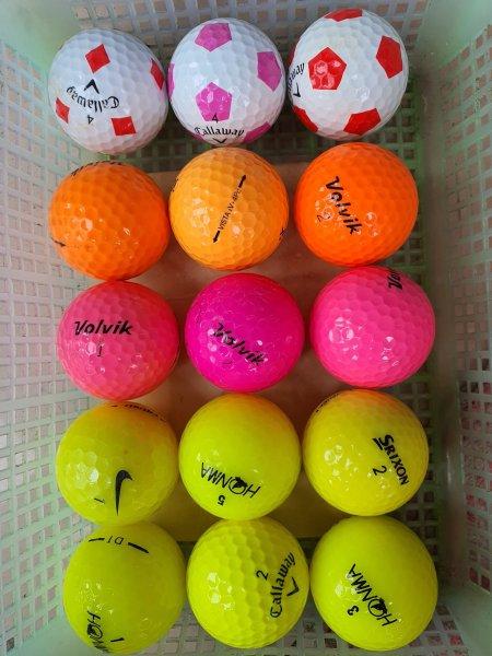 Combo 9 Quả Bóng Golf Màu Đủ Các Thương Hiệu Nổi Tiếng. Titleist. Srixon, VoLviK. Callaway vv..