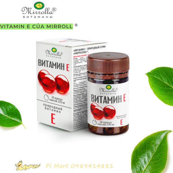 Vitamin E đỏ Mirroll Nga 270mg cao cấp