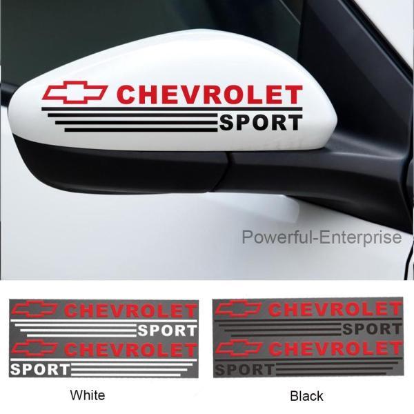 Bộ 2 Decal dán gương chiếu hậu cho ô tô (Chevrolet) - Tem dán gương chiếu hậu