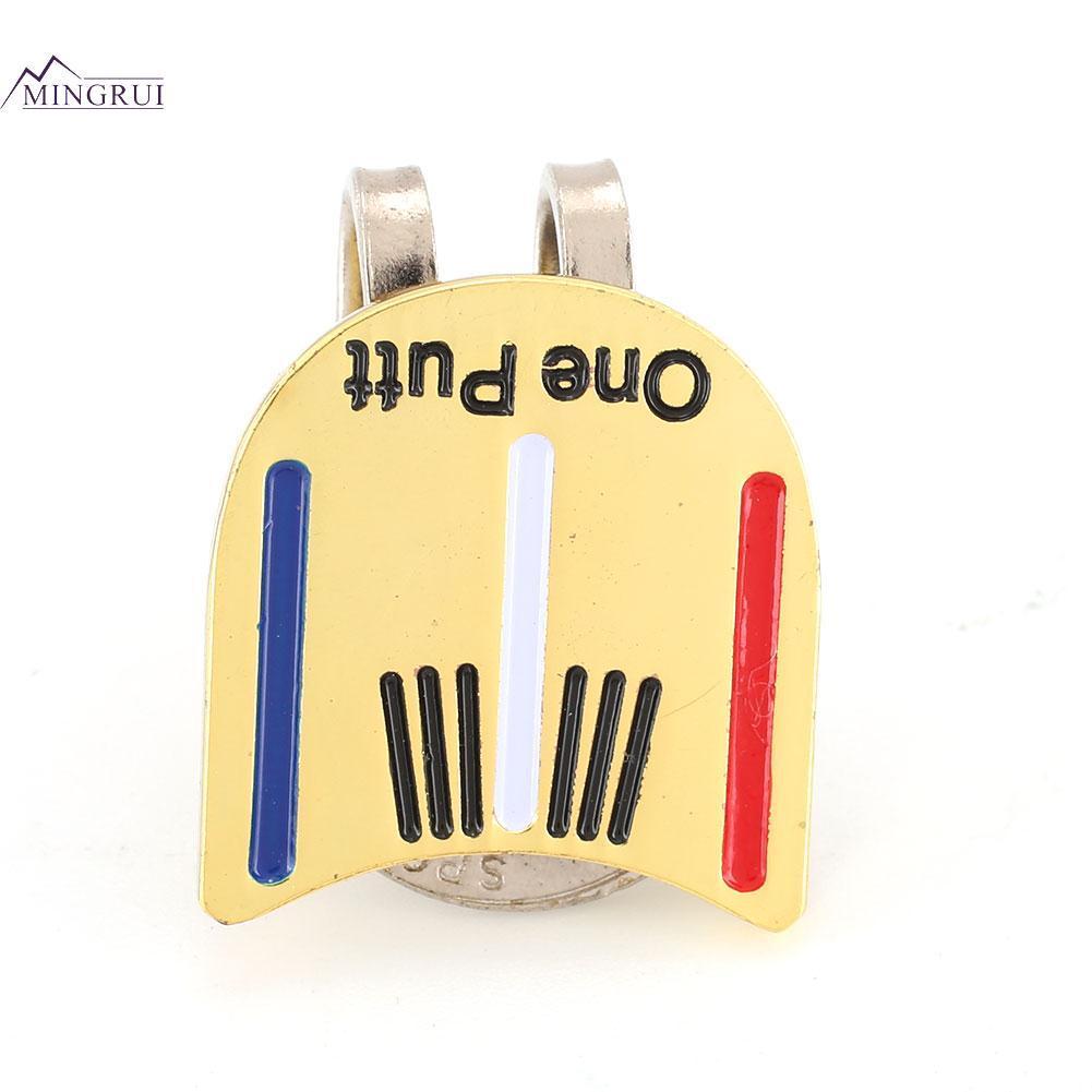 Mingrui One Putt Alloy Golf Ball Marker Golf Cap Clip Golf Hat Clip Magnetic - 7