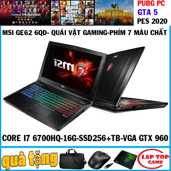 Bảng giá LAPTOP CHƠI GAME MSI GE62 6QD Core I7-6700HQ/ 8G/ 1TB/ VGA GTX 960M/ 15.6 inch Full HD 1920*1080 ) VỎ NHÔM CAO CẤP, LAPTOP GAMING CHUYÊN GAME Phong Vũ