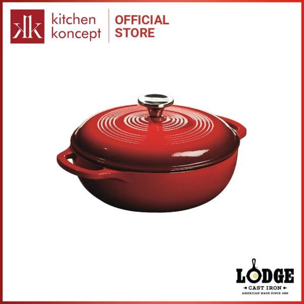 Lodge - Nồi gang phủ men màu đỏ - 2.8L