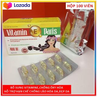 Viên Uống Vitamin E Đe p Da, Sa ng Da, Ha n Chê La o Ho a Da Hộp 100 Viên. thumbnail