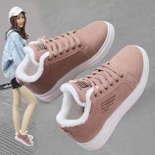Giày Cotton Bốt Đi Tuyết Thể Thao Ngoại Cỡ Bằng Nhung Cho Nữ Giày Thường Ngày Dày Ấm Áp