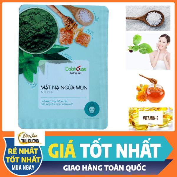 Mặt nạ ngừa mụn - hỗ trợ điều trị mụn, sạch khuẩn, kháng viêm, cân bằng độ ẩm hạn chế nhờn nhập khẩu