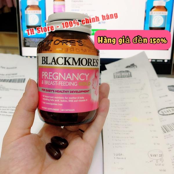 Bill, hàng air Vitamin tổng hợp Blackmores Pregnancy & Breast - Feeding Gold cho phụ nữ mang thai và cho con bú