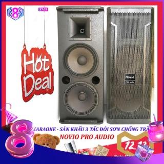[Trả góp 0%]Loa karaoke nghe nhạc sân khấu 3 tấc đôi NOVIO PRO AUDIO sơn chống trầy từ 170 sườn gang thumbnail
