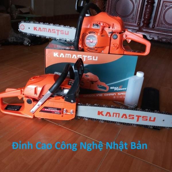 Máy cưa xích Kamastsu 5200 Chạy Xăng pha nhớt