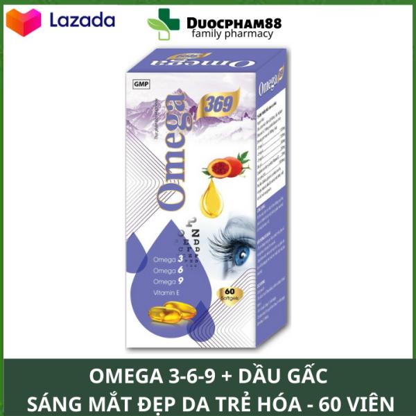 HSD 2024 Viên uống sáng mắt đẹp da tăng cường trí nhớ dầu cá Omega 3.6.9 Hộp 60 viên bổ não, sáng mắt, khỏe mạnh tim mạch, tăng cường trí nhớ