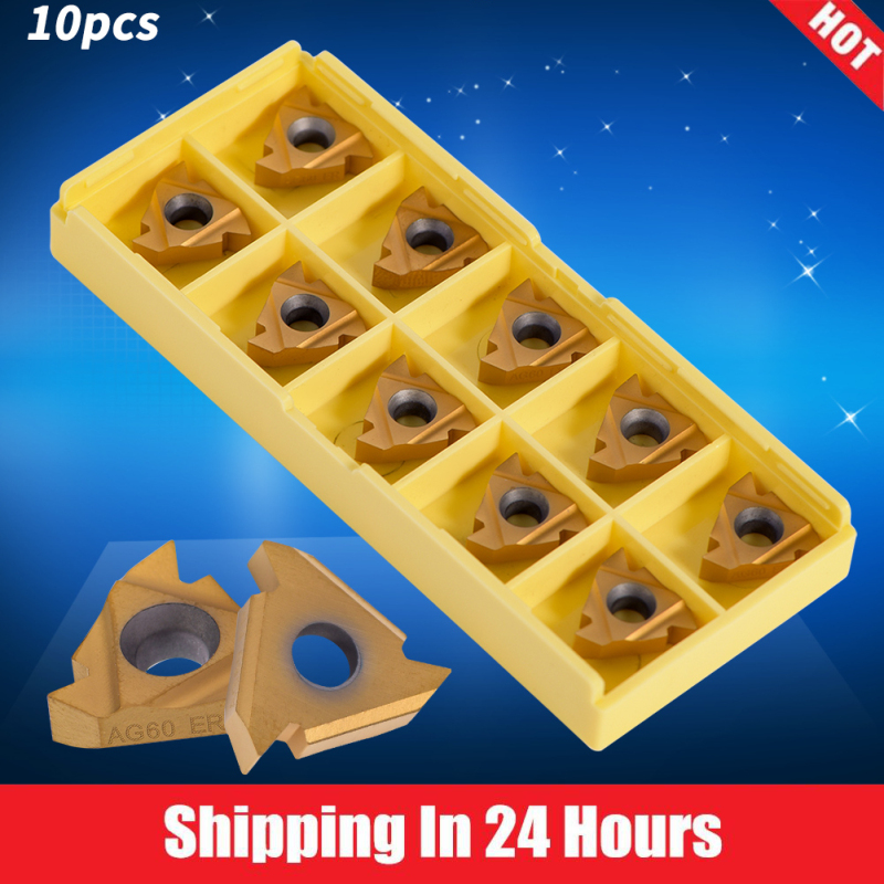 [Bán Nóng]10Pcs/set CNC Carbide Tips Inserts Blade Cutter Lathe Turning Tool with Box - intl