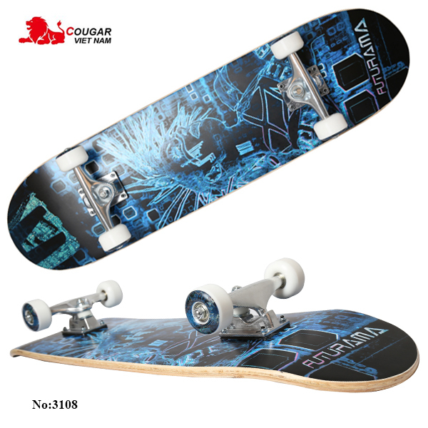 Ván Trượt Skateboard, Ván Trượt Thể Thao, Ván Trượt Cỡ Lớn Đạt Chuẩn Thi Đấu (Mặt Nhám + Bánh Cao Su) Bảo Hành Uy Tín 1 Đổi 1 Trên Toàn Quốc
