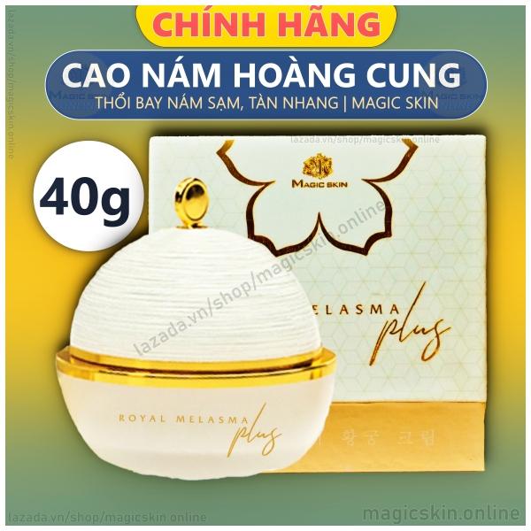 CAO NÁM HOÀNG CUNG MAGIC SKIN Royal Melasma Plus 👍 Kem ngừa nám tàn nhang dưỡng trắng ✔ Size 40g cao cấp