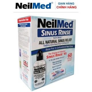 Bình (Bộ Dụng Cụ) Rửa Mũi Người Lớn NeilMed Sinus Rinse Kit 60 Sachets (1 bình 60 gói muối) thumbnail