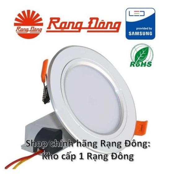 Đèn LED âm trần mạ bạc 7W đổi 3 màu, SAMSUNG chipLED