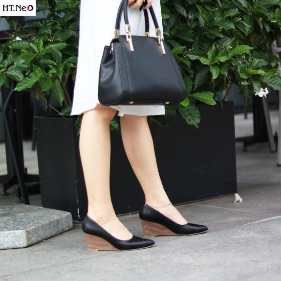 Giày Xuồng Da Bò Thật Đế Xuồng 7 Phân Cực Sang Chảnh Cực Đẹp- Rất Êm Chân Khi Sử Dụng (Cs69-De) giá rẻ