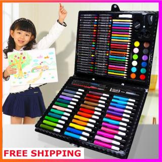 (Quà Tặng Cho Bé) Bộ bút màu tập tô cho bé 150pcs, Cho bé yêu thỏa mái sáng tạo.Bộ đồ dùng học sinh. thumbnail