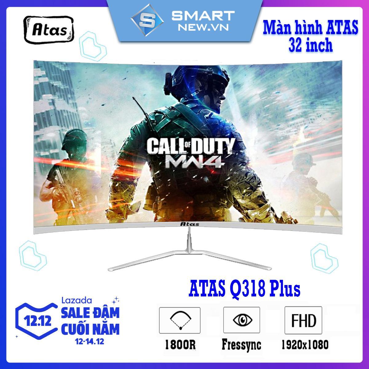 Giá Màn hình máy tính 32 inch siêu cong không viền Atas Q318 Plus - Tần số quét 75Hz - Fresync