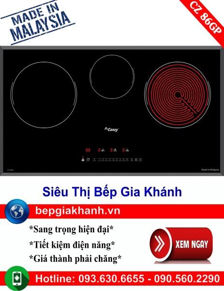 Bếp điện từ 3 vùng nấu Canzy CZ 86GP nhập khẩu Malaysia, bếp điện từ, bếp điện từ đôi âm, bếp điện từ đôi, bếp điện từ đôi đức, bếp điện từ đôi nhật, bếp điện từ giá rẻ, bep dien tu gia re, bep dien tu hong ngoai