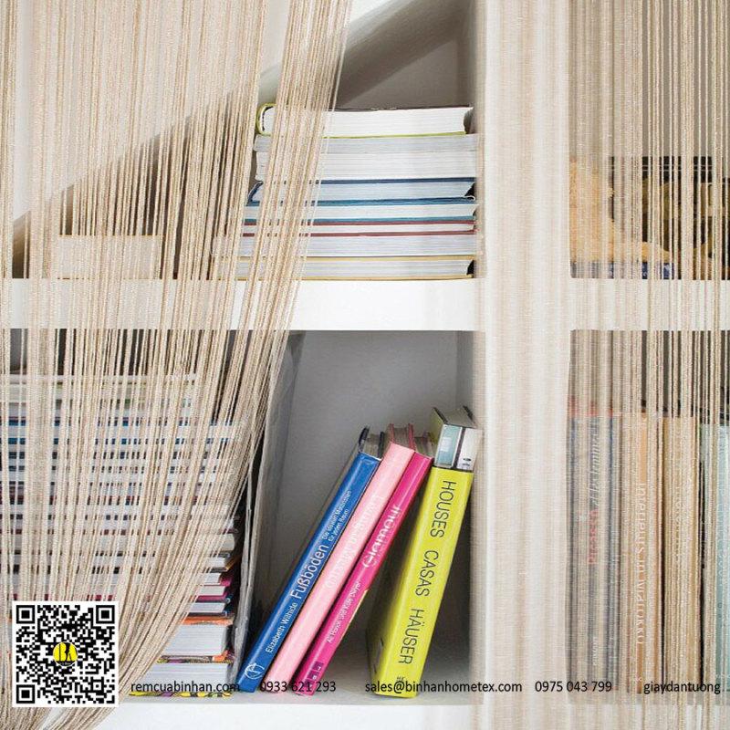 Rèm sợi chỉ trơn RS01 màu be Rèm sợi trang trí nhà ở, nhà hàng, tiệc cưới, spa, tiệm tóc