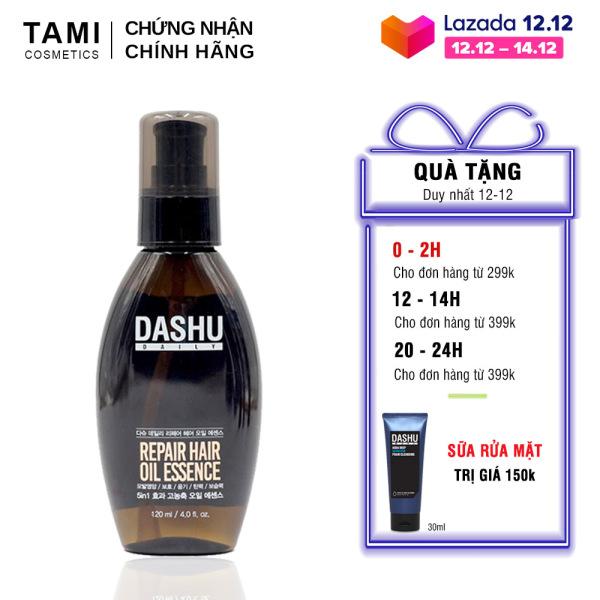 Dầu dưỡng tóc DASHU daily repair hair oil essence Phục hồi tóc hư tổn vào nếp bóng mượt serum dưỡng tóc 120ml TM-DT01