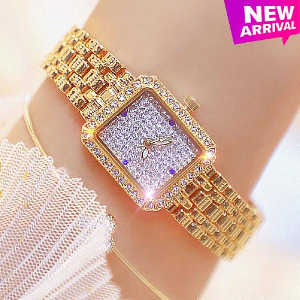 Đồng hồ nữ BS BEE SISTER Vuông Nhỏ Xinh Đính đá siêu đẹp - Tặng Kèm Pin ĐH Dự Phòng bán chạy