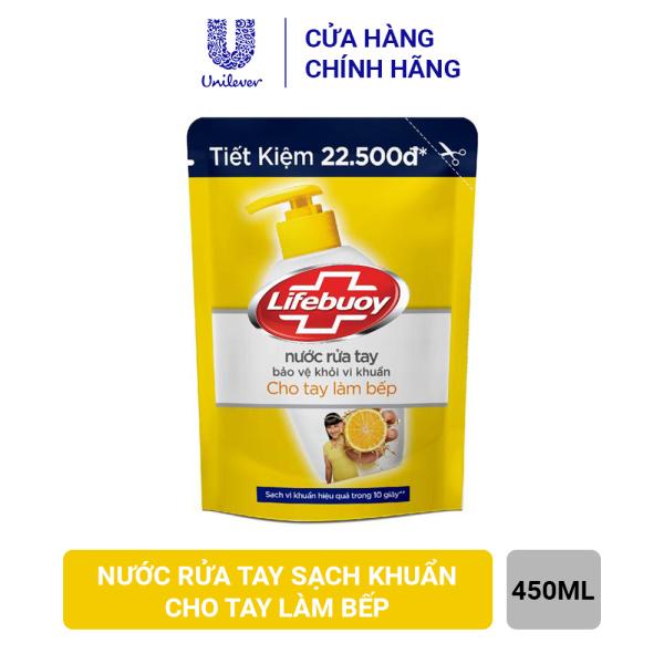 Nước Rửa Tay Lifebuoy Cho Tay Làm Bếp (Túi 450g) cao cấp