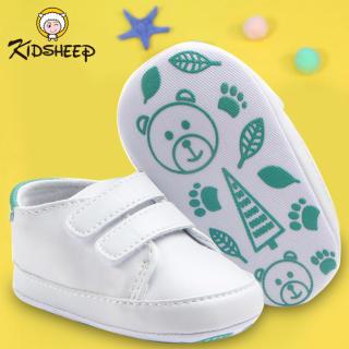 Kidsheep Giày trẻ em Giày da PU Giày cho trẻ mới biết đi Đế Mềm Chống Trượt